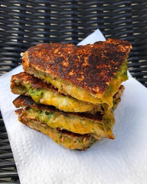 Veg-Wich Cheese Masti Sandwich: cheese, butter and chutney on vegan bread