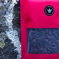 SELEUŠS-SATIN™ 73.73%+ Bar Tart Cherries *artisan handcrafted chocolate bar a neutral dark chocolate topped with tart cherries