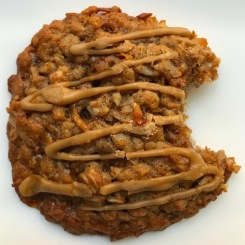 Lowrider Baking Company - Banana Maple Toffee Cookie: fresh bananas, rolled oats, coconut, toffee bits with a maple glaze