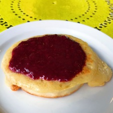 The Crumpet Shop: Crumpet with blackberry preserves