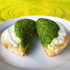 The Crumpet Shop: Pesto and Ricotta Crumpet