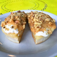 The Crumpet Shop: The Vermont aka The Life Changer Crumpet cream cheese, Vermont maple butter and walnuts