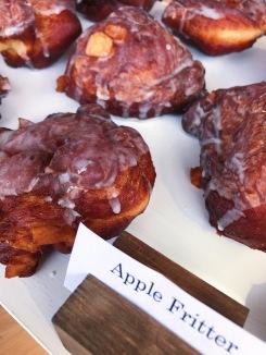 Raised Doughnuts Apple Fritters yeast raised doughnut, honeycrisp apples, cinnamon and Scrappy's Bitter cardamom glaze