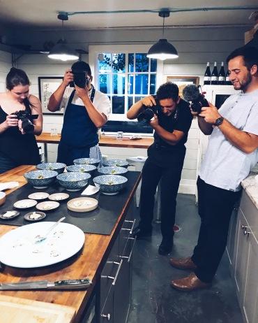 Kimberly w/ Northwest Foods, Chef Hubert Tsai, Sam Lynn, Shane Mente