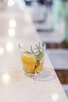 Julep Cocktail: Maker's Mark bourbon, Domaine de Canton ginger liqueur, muddled lemon and rosemary