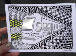 train coloring postcard 3